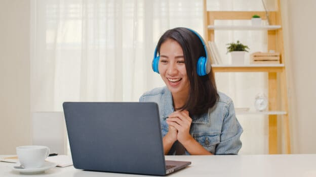 Virtual receptionist on a call